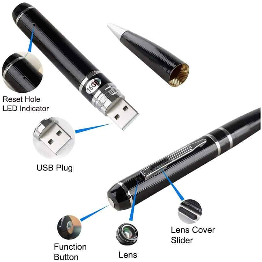 Fuvision Hidden Camera Pen