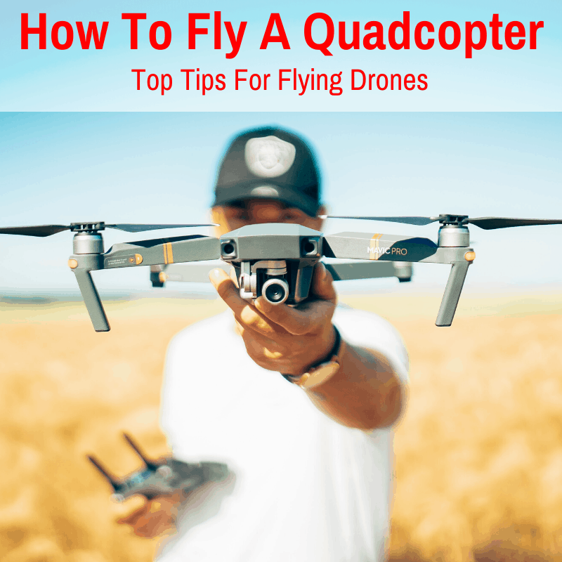 Flying a quadcopter drone
