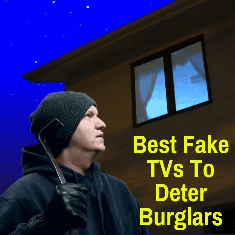 A Fake TV deterring a burglar