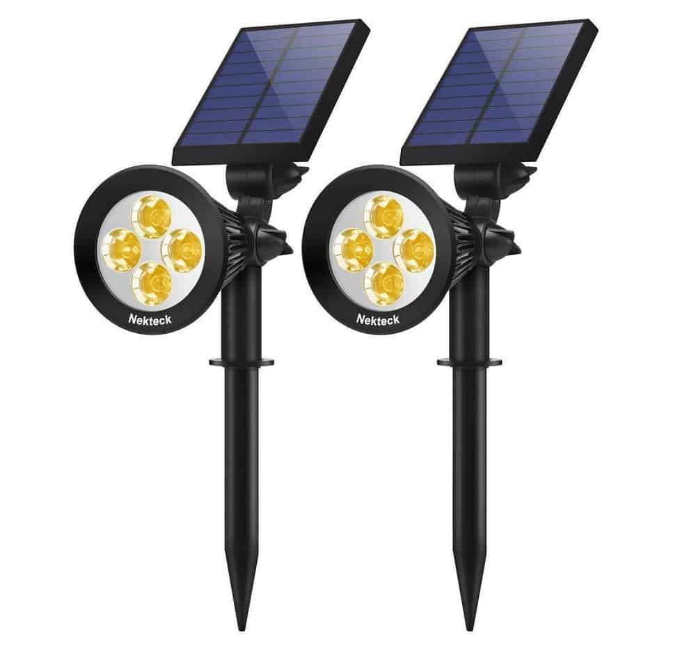 Nekteck outdoor solar spotlight for yards