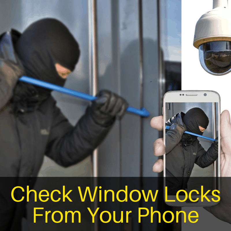Check window locks from a phone