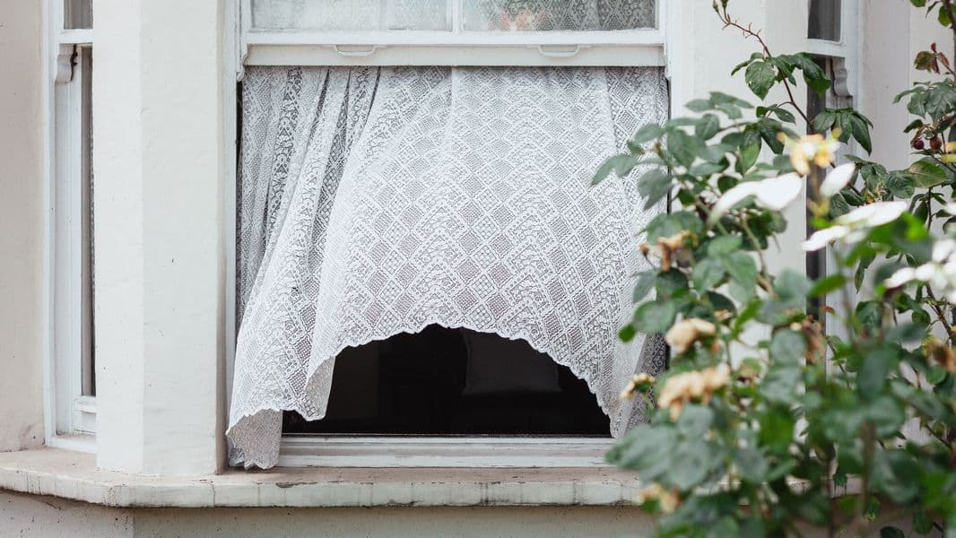 A window left unlocked and open