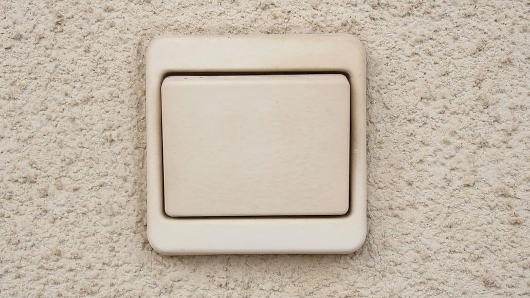 Light switch for outdoor security lights