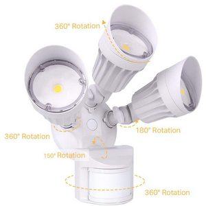 Adjustable JCC LED security lights