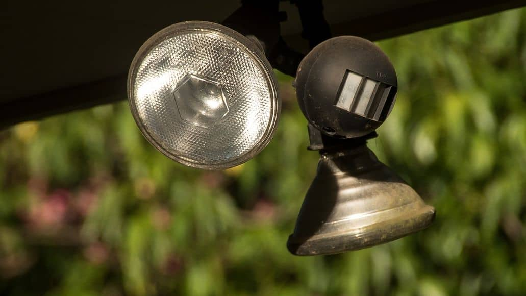 Outdoor lighting for security purposes