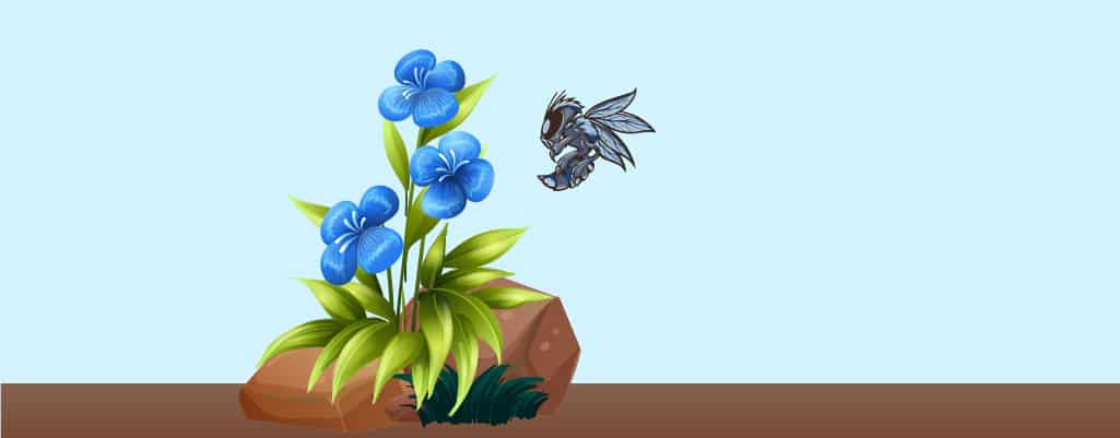drone robot as a bee drawing