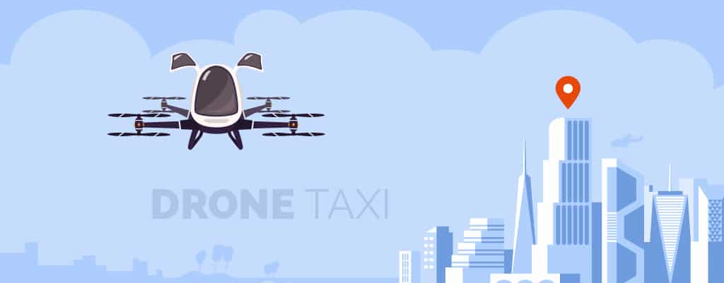 drone as a taxi drawing