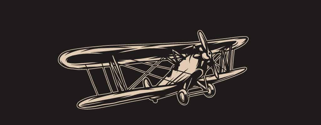 a drawing of an airplane
