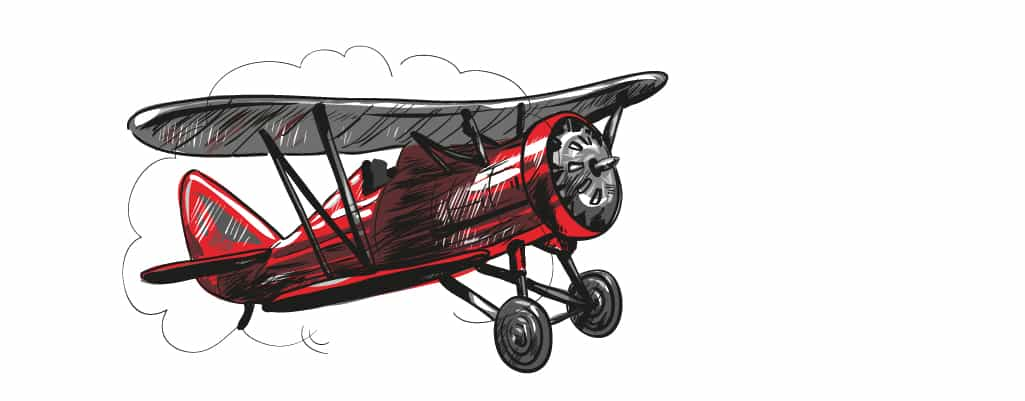 a graphic of a bi-plane