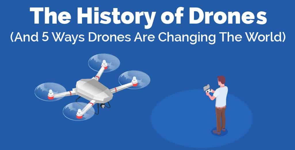 the history of drones illustration