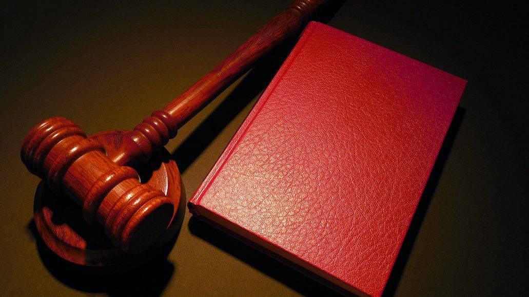 court case gavel and book