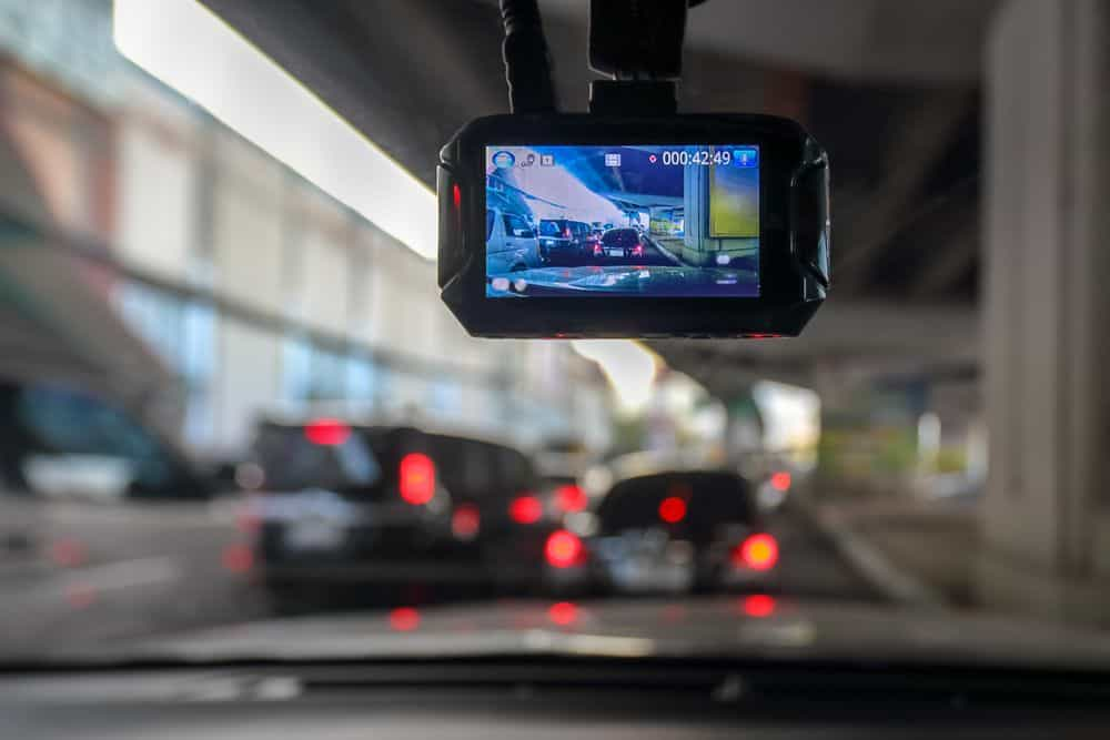 Viewing dashcam footage on display