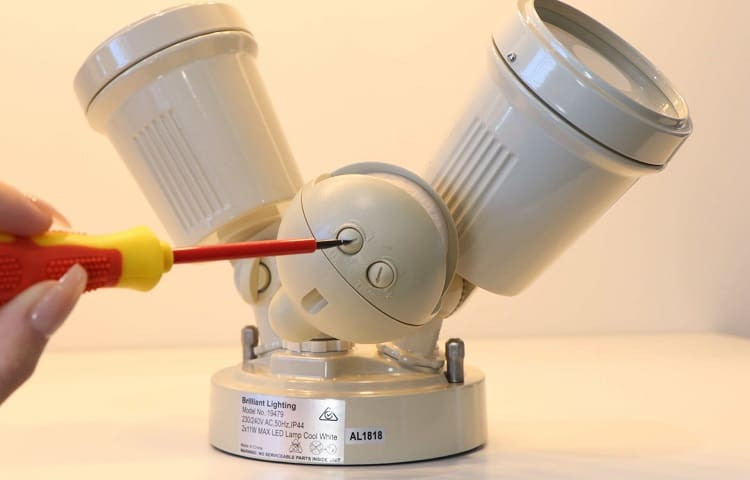 turning motion sensor light off