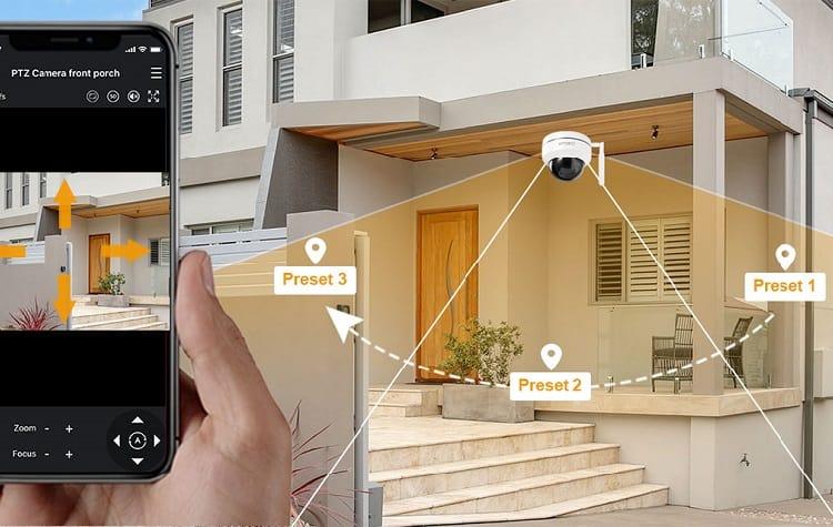 ptz camer controlled via phone app