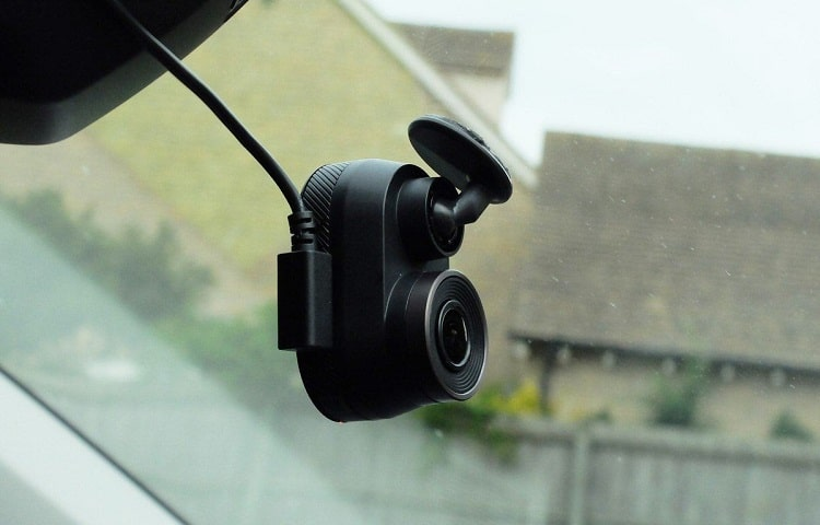dashcam with adhesive mount