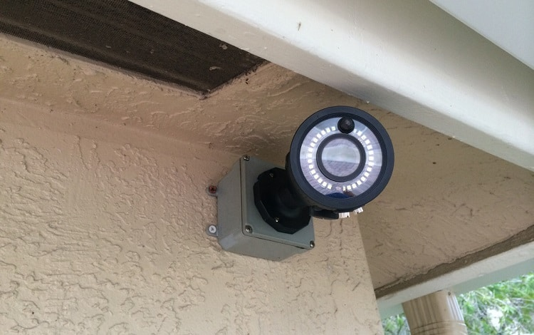 video camera with motion detector