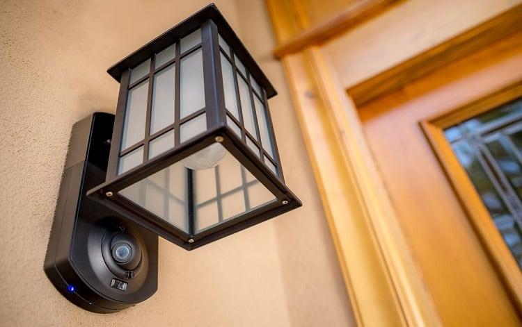 motion detector in front of door