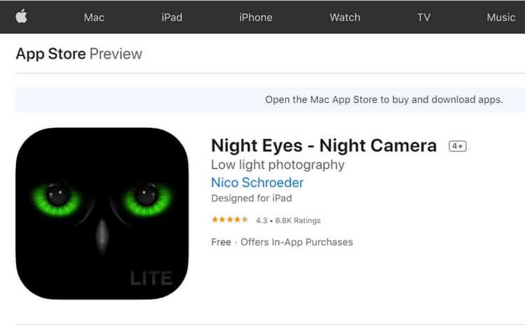 Night eyes App