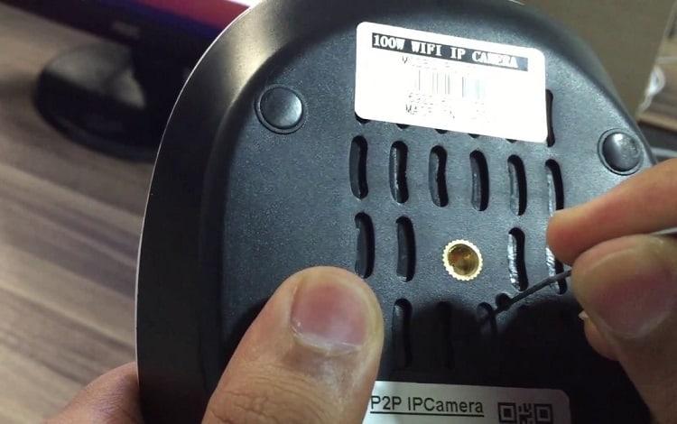 reset needle on ip camera