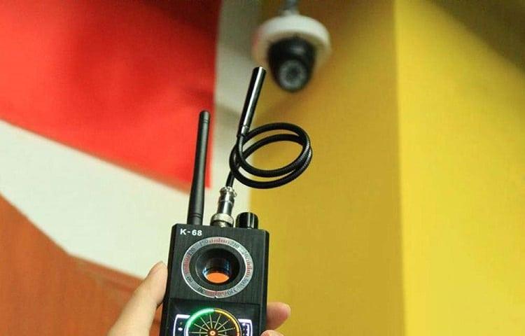 RF detector detects a camera